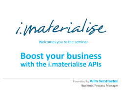 Boost your Business with i.materialise APIs