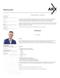 Webmaster - ARX Corporate Consultants