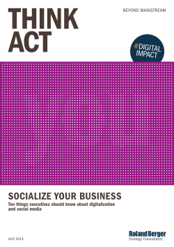 Socialize your business - Roland Berger Strategy Consultants