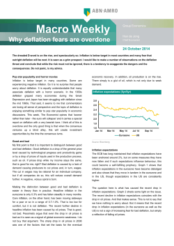 Macro Weekly - Why deflation fears are overdone