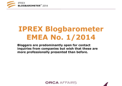 IPREX Blogbarometer 2014 Europe