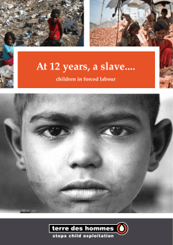 At 12 years, a slave… children in forced labour