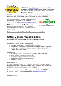 MCSubstradd looking for a sales-manager mushroom