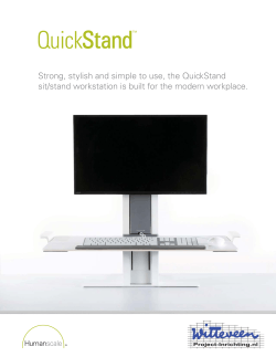 Strong, stylish and simple to use, the QuickStand sit/stand
