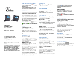 GXP2200 Quick User Guide