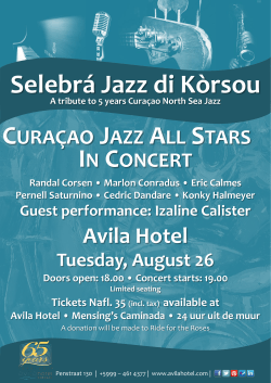 IN CONCERT CURAÇAO JAZZ ALL STARS