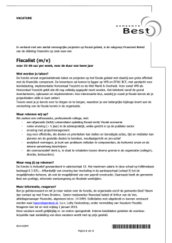Vacature Fiscalist Bes