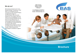 Brochure - BAS Trainingen