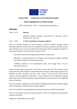 Cannes 2014 - Conference on EU audiovisual policy Policy
