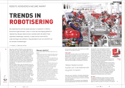 TRENDS IN ROBOTISERING - Factory-in-a-day
