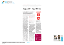 Big data = big money - Puilaetco Dewaay News