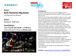 BvR Flamenco Big Band [NL] olv Bernard van Rossum