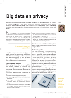 Big data en privacy