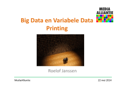 Big Data en Variabele Data Printing