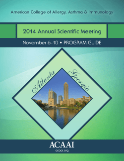 Program Guide - acaai - American College of Allergy, Asthma and