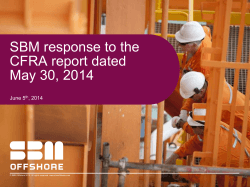 SBM response to the CFRA report dated May 30, 2014