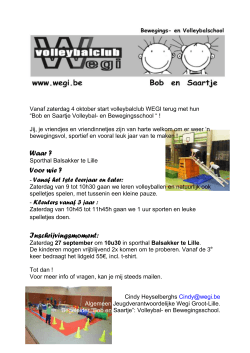 start flyer - Wegi volleybalclub
