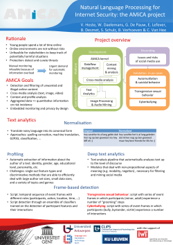 Normalisa on Profiling Deep text analy cs Frame-‐based