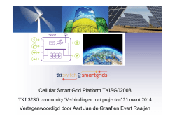 Pitch TKI CS GriP - TKI Switch2SmartGrids