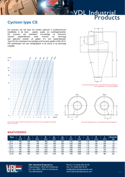 Productsheet Cycloon type CS