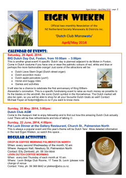 2014 - 3 - Federation of New Zealand Netherlands Societies Inc