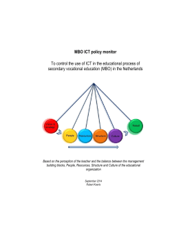 MBO ICT policy monitor - TU Delft Institutional Repository