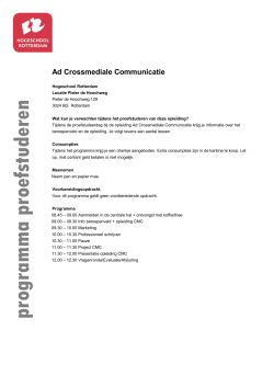 Ad Crossmediale Communicatie