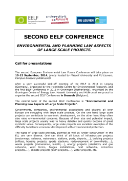SECOND EELF CONFERENCE