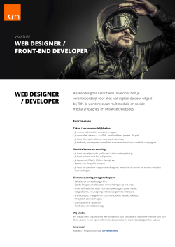 WEB DESIGNER / FRONT-END DEVELOPER