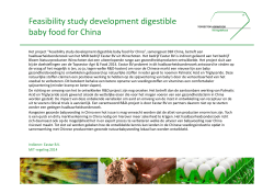 Feasibility study development digestible baby food for China