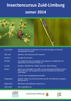 A flyer insectencursus