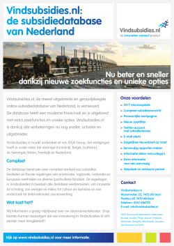 Vindsubsidies.nl - Innovation Connect