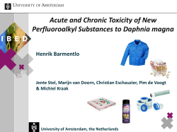 Acute and Chronic Toxicity of New Perfluoroalkyl Substances to