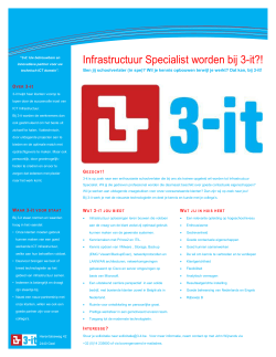 Vacature Infrastructuur Specialist (trainee) - 3-it