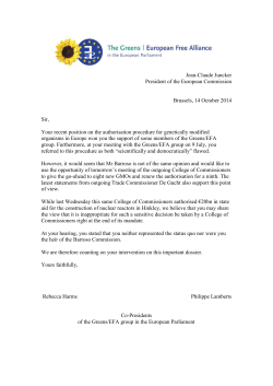 copy of the letter