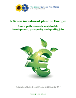 A Green investment plan for Europe