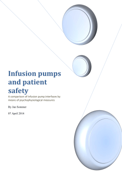 Infusion pumps and patient safety