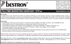 FULLTIME MARKETING ASSISTANT / DTP-er
