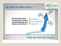 Fast to Fact to Focus - Keys 2 success in Turkey