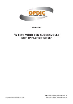 Artikel - ERP-tips - Implementatie ERP » implementatie erp