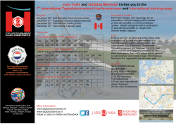 flyer internationaal 2014 - Topjudotoernooi Haarlemmermeer