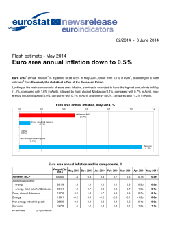 Euro area annual inflation down to 0.5%