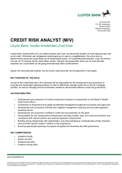 CREDIT RISK ANALYST (M/V)