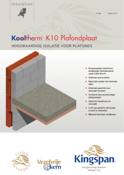 Brochure Kooltherm K10 Plafondplaat