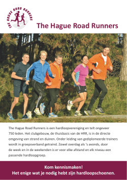 HRR Flyer - The Hague Road Runners