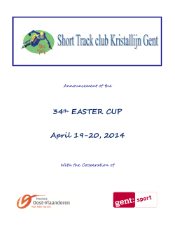 Announcement Easter Cup Gent 2014