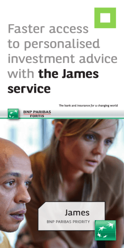 Faster access to personalised investment advice with the James
