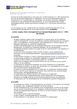 Lector supply chain management en transportbegrippen (m/v) – 65