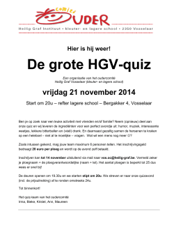 quiz brief 2014 - Heilig Graf Vosselaar