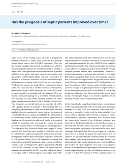 Has the prognosis of septic patients improved over time?